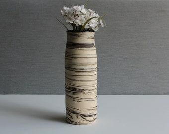 Handmade EARTH Tall Ceramic vase,  Flower vase, Single flower vase, Handmade vase,  Modern pottery, Marbled, Rustic, Gift for Mom