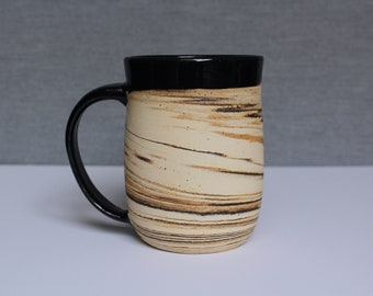 EARTH Handmade Pottery Mug, Marbled Mug, Agatware, Ceramic Coffee Mug, Stylish Mug, Modern Pottery, Boho, Comfort, Light
