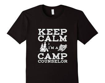 0eb99b25101 Camp Counselor Shirt - Summer Camp Gift - Camp Counselor Top - Summer Camp  T Shirt - Keep Calm I m A Camp Counselor