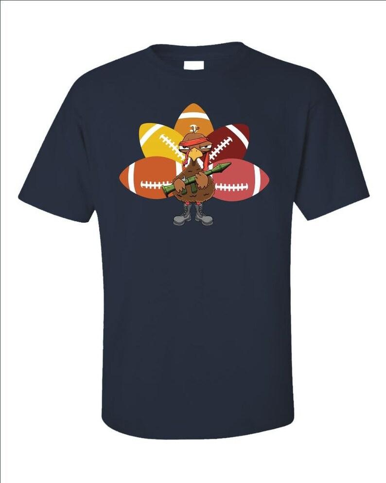 Funny Thanksgiving Shirt  Football Fan T-Shirt  Turkey image 0