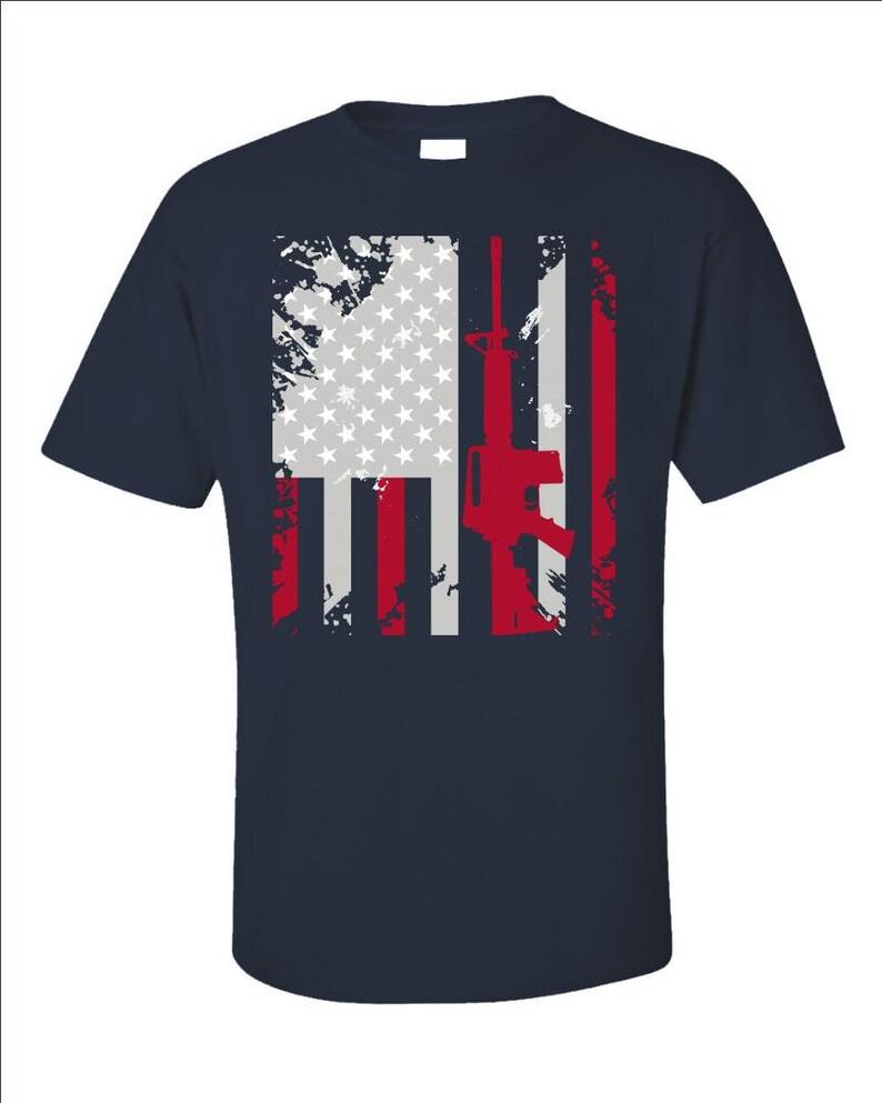 Second Amendment T-Shirt  Patriotic American Flag Shirt  War image 0
