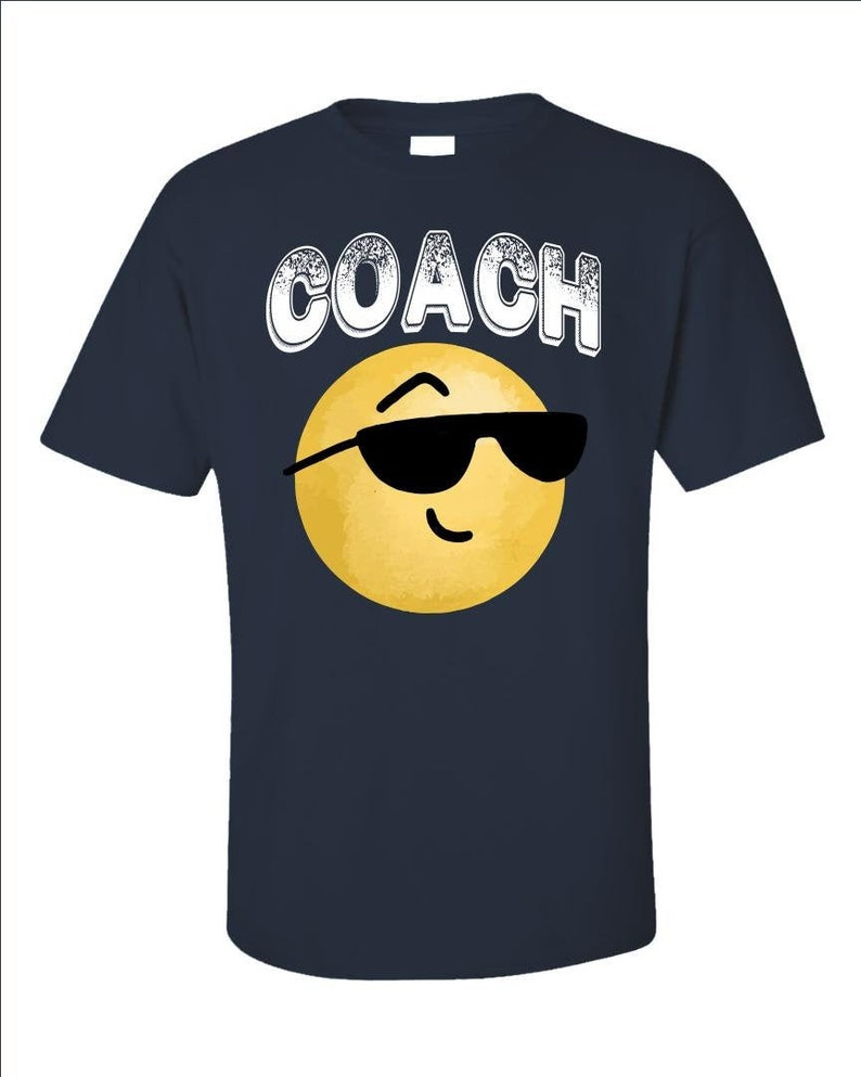 Sports Coach Smiley T-Shirt  Gift Idea For Coaches  Funny image 0