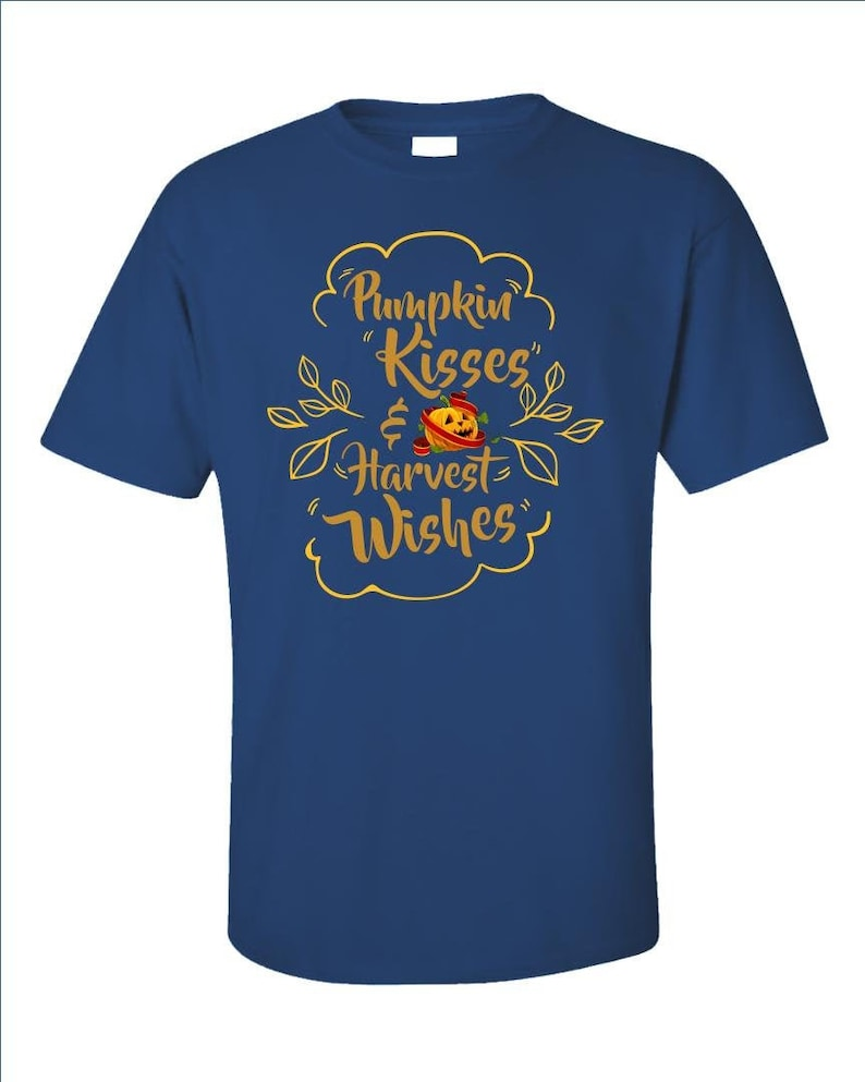 Pumpkin Kisses And Harvest Wishes  Cute Autumn Top  Funny image 0