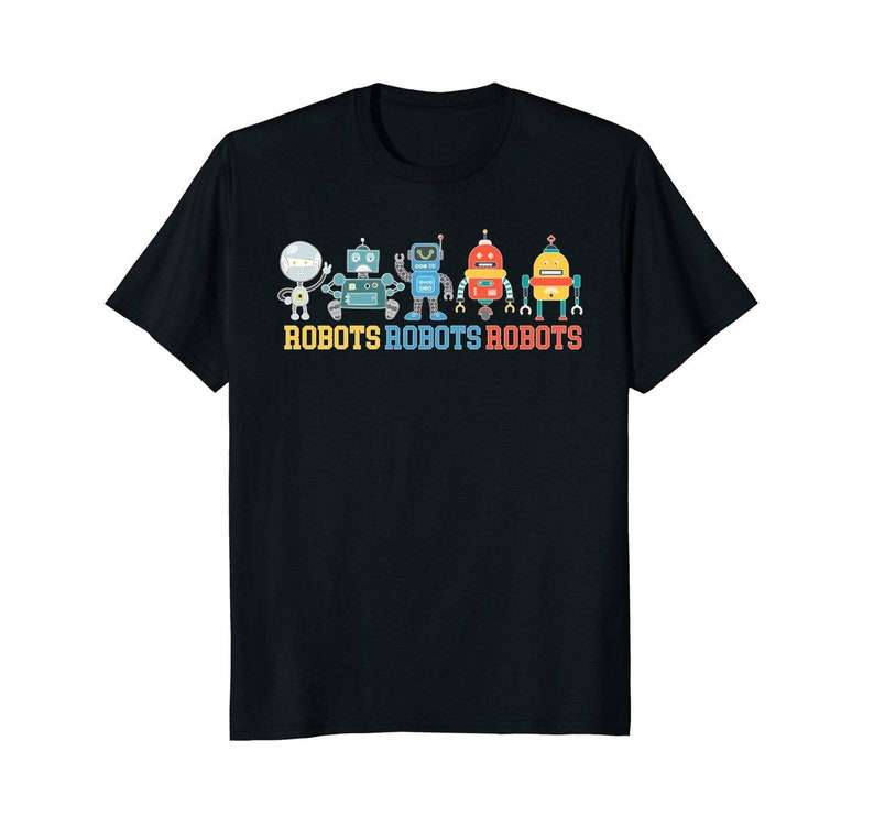 Robots Robots Robots  Robot T Shirt  Robot Shirt  Robot image 0