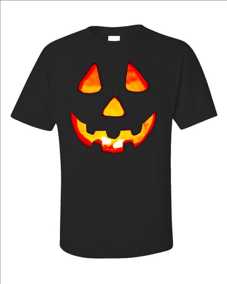 Jack O'Lantern Face T-Shirt  Pumpkin Face Tee  Halloween image 0