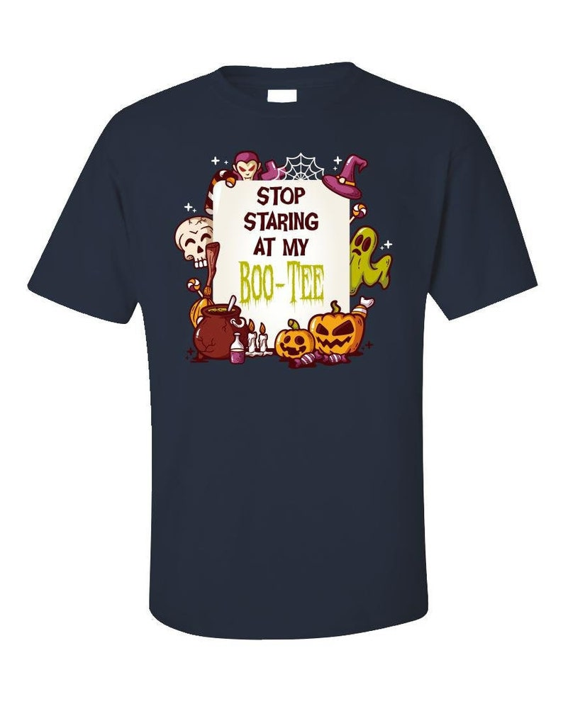 Stop Staring At My Boo Tee  Funny Halloween T-Shirt  image 0