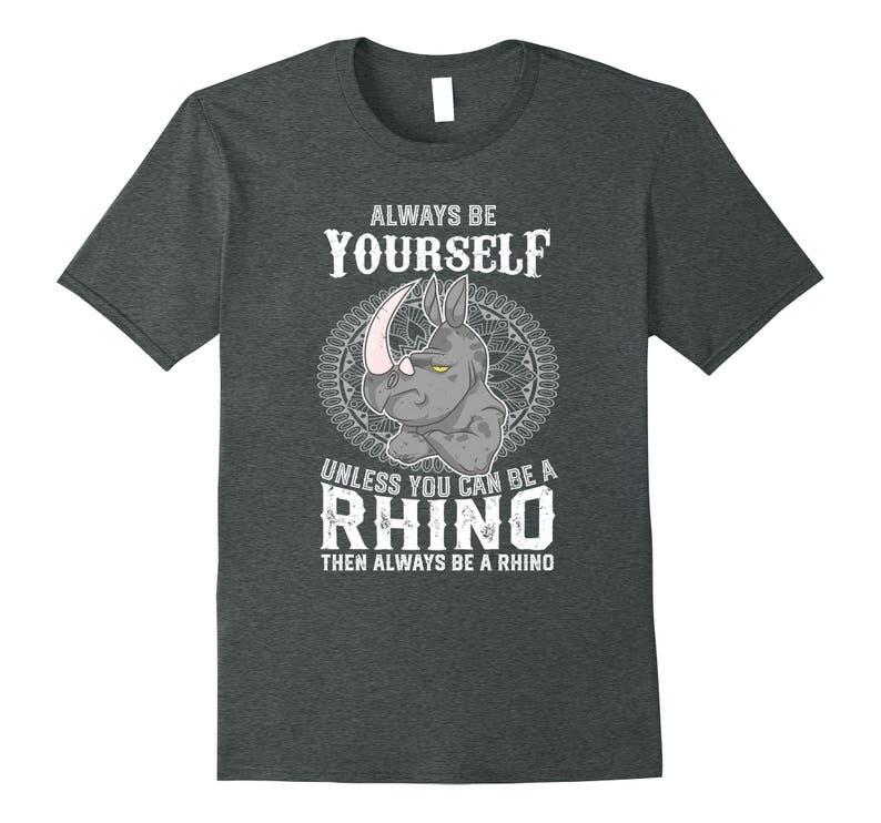 Rhino Shirt  Rhinoceros Tee Shirt  Funny Rhino Gift  Rhino image 0