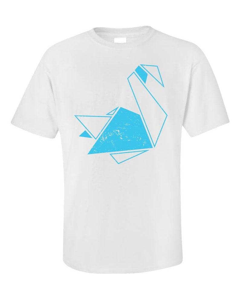 f14f3fe8 Gift For Bird Watcher Swan T-shirt Origami Tee Swan | Etsy