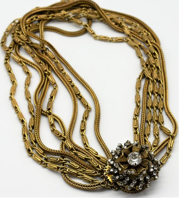 Miriam Haskell Multi Chain Necklace - image 2