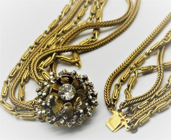 Miriam Haskell Multi Chain Necklace - image 6