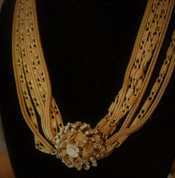 Miriam Haskell Multi Chain Necklace - image 4