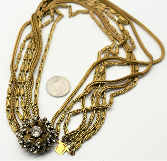 Miriam Haskell Multi Chain Necklace - image 7