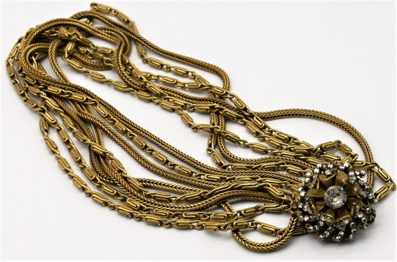 Miriam Haskell Multi Chain Necklace - image 3