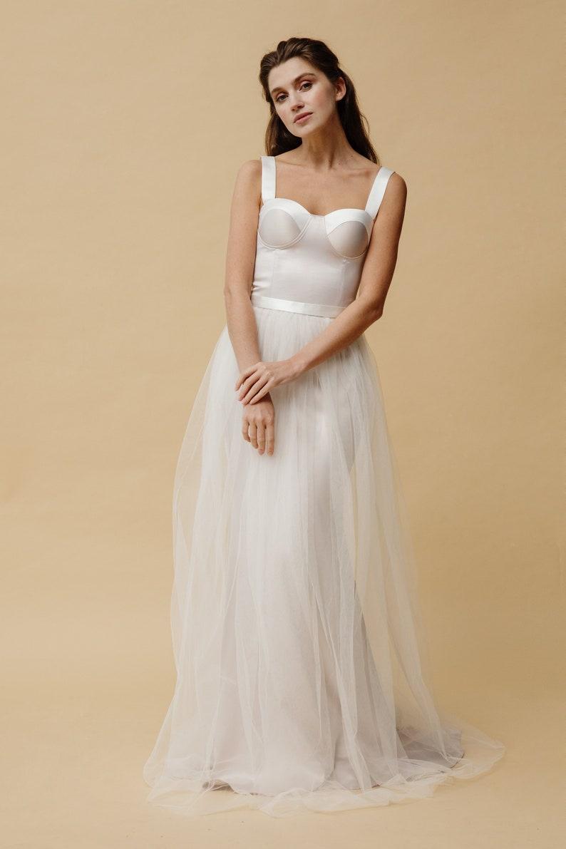 c2ed6df149e4fb Zeemeermin bruiloft jurk silhouet bruiloft jurk Elegant korset