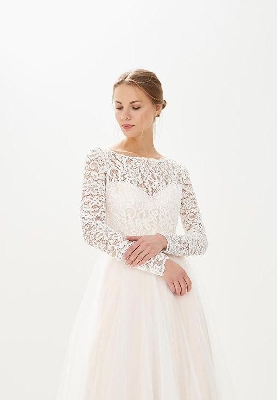 Romantic wedding dress / Lilac wedding dress /boho wedding