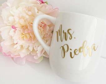 Personalized Coffee Mug- Custom coffee mug- Coffee mug - future Mrs coffee mug- wedding coffee mug- engagement gift idea - new mrs- mrs
