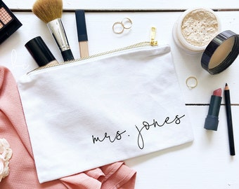 Personalized Make Up Bag You Can Stop Asking Getting Married Engaged Engagement Gift
