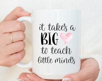 Teacher mug- new teacher mug- teacher gift- gift for a new teacher- teacher appreciation coffee mug- mug for teacher- end of year teaching