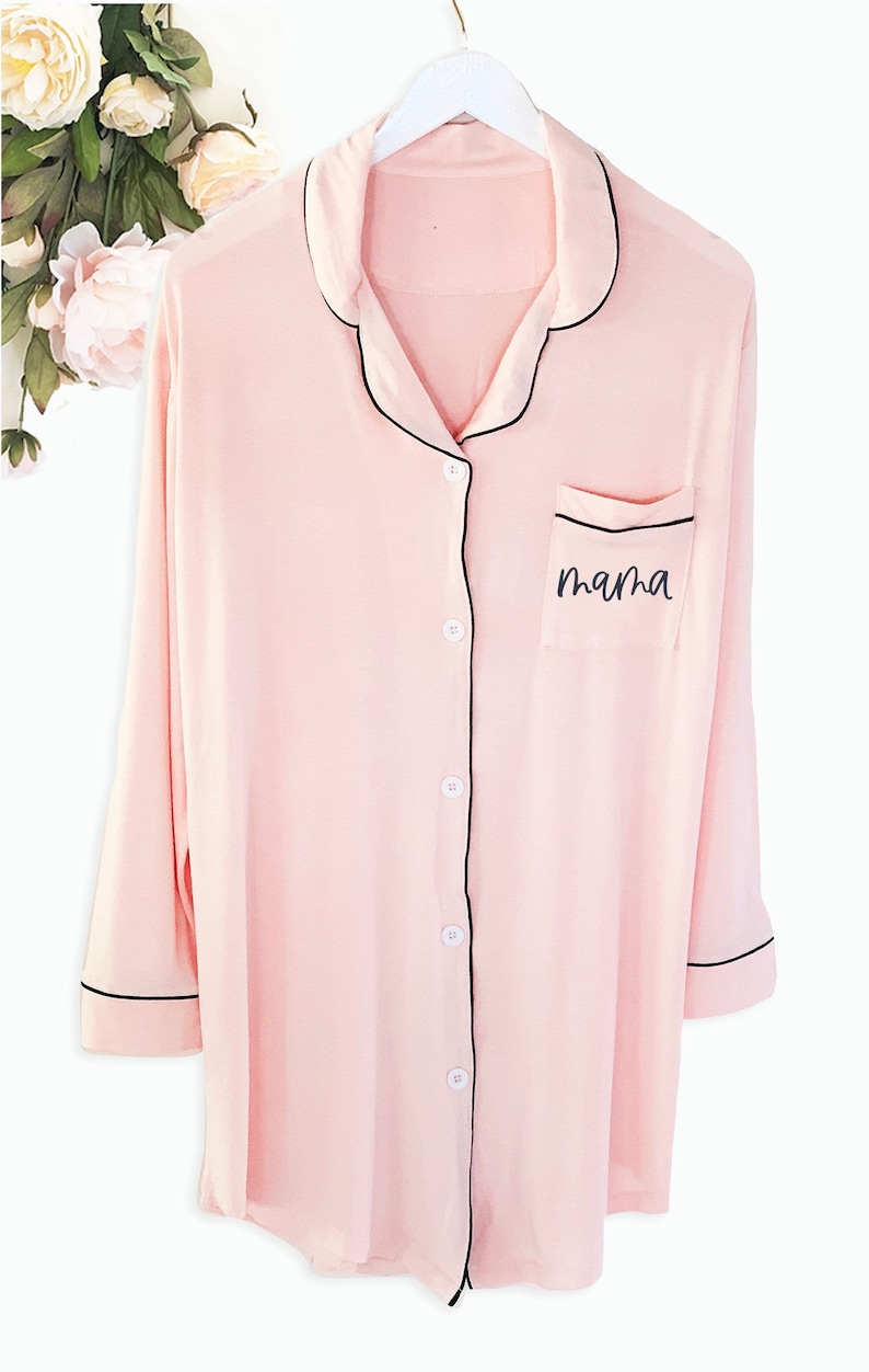 Mama sleep shirt maternity pajamas mama gifts Mothers Day