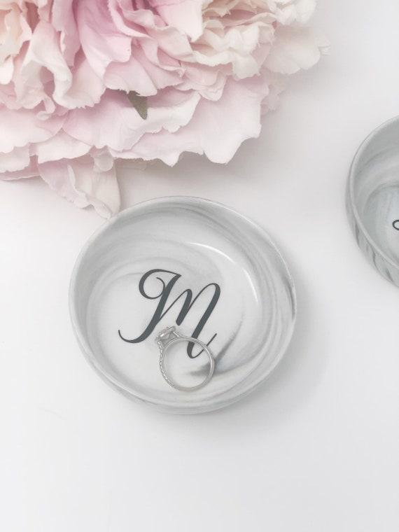 Wedding Gifts for The Couple Just Married Engagement Gifts for Her Bridal Shower Gifts for Bride to Be Chosen One Ring Dish//Ring Holders for Jewelry//Trinket Tray Gift Mr and Mrs Ring Holder