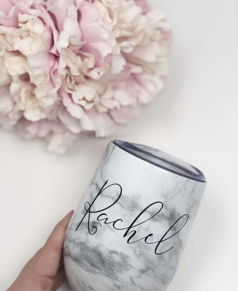 Marble wine tumbler stainless steel tumblers for hen party maid of honor proposal bridesmaid bachelorette  gift cup bridesmaid proposal