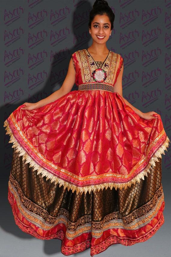 Afghanische indischen Stickerei-Party-Kleid Hena Nacht | Etsy