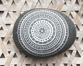 Mandala stones / boho / decor / mandala / handmade / hand-painted / crafts / mandala art