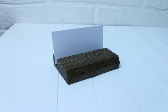 Holz Visitenkarte Halter Ständer Holz Schreibtisch Dekor Büro Natürliche Dekor Geschenk Für Ihn