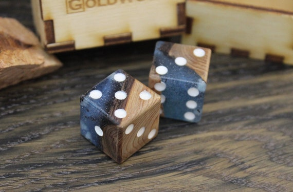 board game accessories resin wood dice for board games Custom resin dice set custom dice box rpg dice