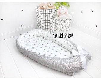 SALE!! double-sided baby nest for newborn babynest, sleep bed, cot, snuggle nest, pod, baby nest pattern, sleep nest,