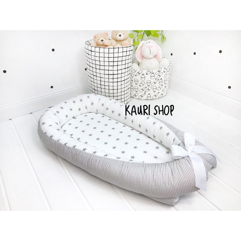 double-sided baby nest for newborn babynest sleep bed cot image 0