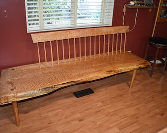 Magnificent Wood Bench With Back Etsy Alphanode Cool Chair Designs And Ideas Alphanodeonline