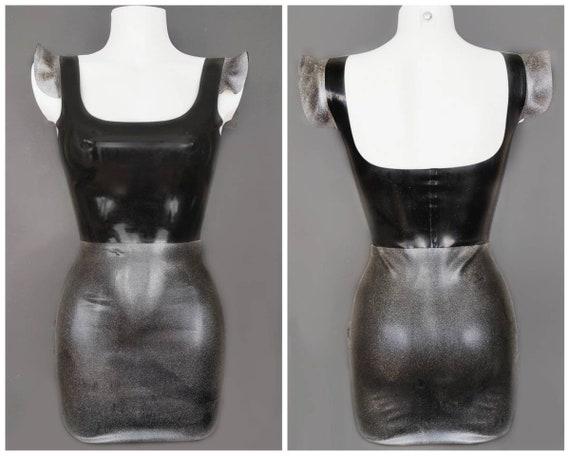 Latex galaxy halter mini dress more galaxymarbleleopard available