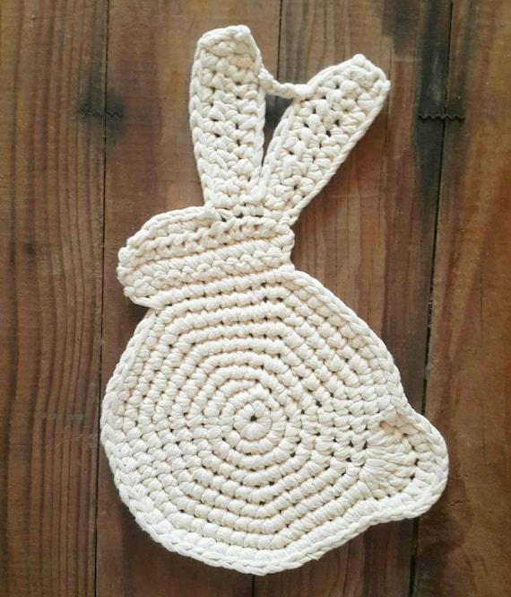 Crochet Rabbit Potholder Pattern Etsy
