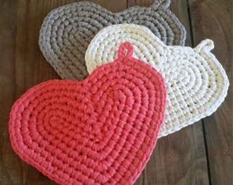 Crochet Heart Potholder Pattern