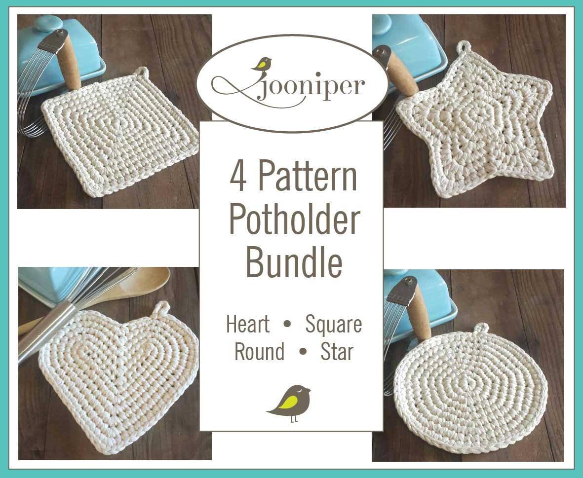 Crochet Potholder Bundle Patterns Etsy