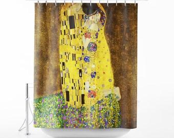 Gustav Klimt The Kiss Shower Curtain Art Bath Decor Bathroom SC GKL 08