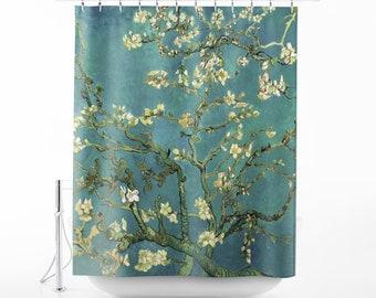 Van Gogh Blossoming Almond Tree Shower Curtain Art Bath Decor Bathroom SC VVG 02