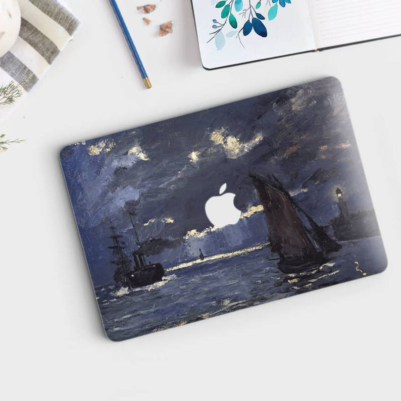 Shipping by Moonlight by Claude Monet Canvas Print A Seascape various sizes