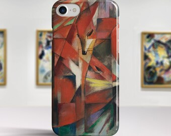 """Franz Marc """"The Foxes"""" Art iPhone 8 case iPhone 7 Plus case iPhone 6 case Slim / Tough case iPhone X 8 7 6 etc. PC-FMA-02"""