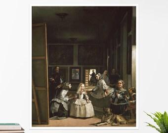 """Diego Velázquez, """"Las Meninas"""".  Art poster, art print, rolled canvas, art canvas, wall art, wall decor"""