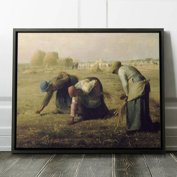 Jean Francois Millet The Gleaners Framed Painting Etsy