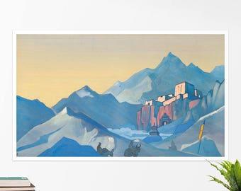 "Nicholas Roerich, ""Stronghold of the Spirit"". Art poster, art print, rolled canvas, art canvas, wall art, wall decor"