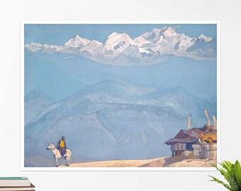 "Nicolas Roerich, ""Remember"". Art poster, art print, rolled canvas, art canvas, wall art, wall decor"