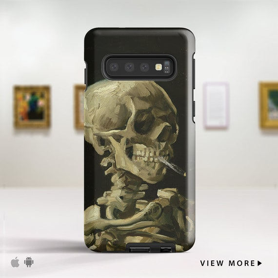 Crow and Skull Collage Samsung S10 Case