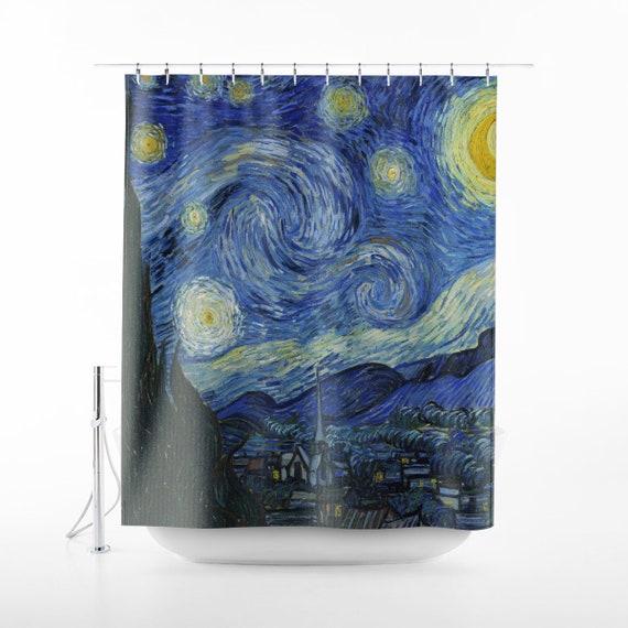 Vincent Van Gogh Starry Night Shower Curtain Art