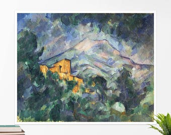 "Paul Cézanne, ""Mont Sainte-Victoire"". Art poster, art print, rolled canvas, art canvas, wall art, wall decor"