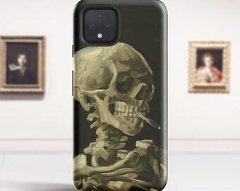 """Van Gogh """"Skeleton with Burning Cigarette"""" Pixel 4a 5G case Pixel 4 xl phone case Pixel 3a xl case Pixel 5 case for Google. PC-VVG-20"""