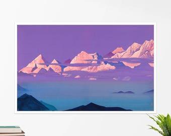 "Nicholas Roerich, ""Himalayas"". Art poster, art print, rolled canvas, art canvas, wall art, wall decor"