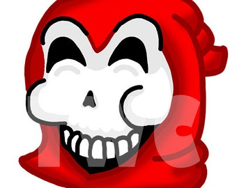 Twitch Emote Happy Grim Reaper - RED